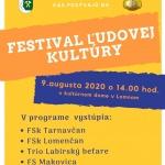 Festival ľudovej kultúry 2020